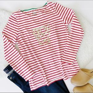Boden Great Breton You've Earned These Stripes Top